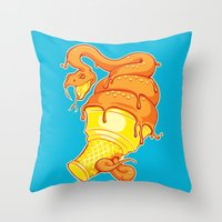 Snake Cone Throw Pillow