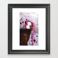 Fishing for hearts Framed Art Print