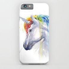 Rainbow Unicorn Watercolor Slim Case iPhone 6s