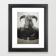 Dragonborn - Skyrim Framed Art Print