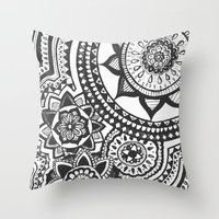 Too Many B&W Throw Pillow