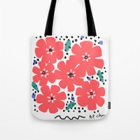 Big Red Flowers Tote Bag