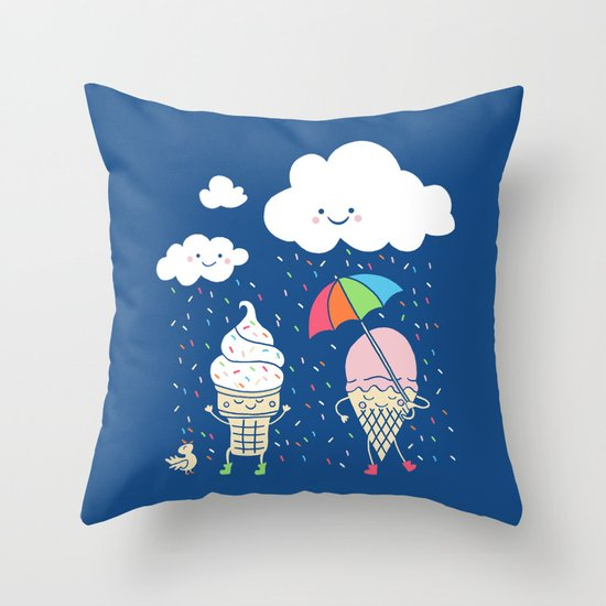 Cloudy With A Chance of Sprinkles Throw Pillow
