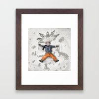 Snow Angel Framed Art Print