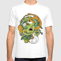 Medusa Mens Fitted Tee White SMALL