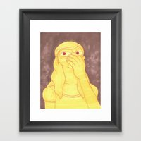 Man Hands Framed Art Print