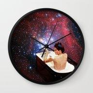 Wall Clock featuring Bubble Bath by Eugenia Loli