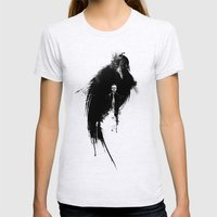 Quoth the Raven Womens Fitted Tee Ash Grey SMALL