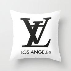 LA los angeles Throw Pillow