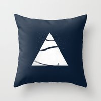 time to snow! Throw Pillow