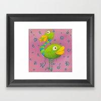 The Ostrich-whale Framed Art Print