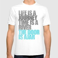 The Door is Ajar Mens Fitted Tee White SMALL