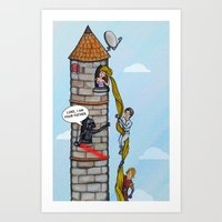 Rapunzel and Skywalker Art Print