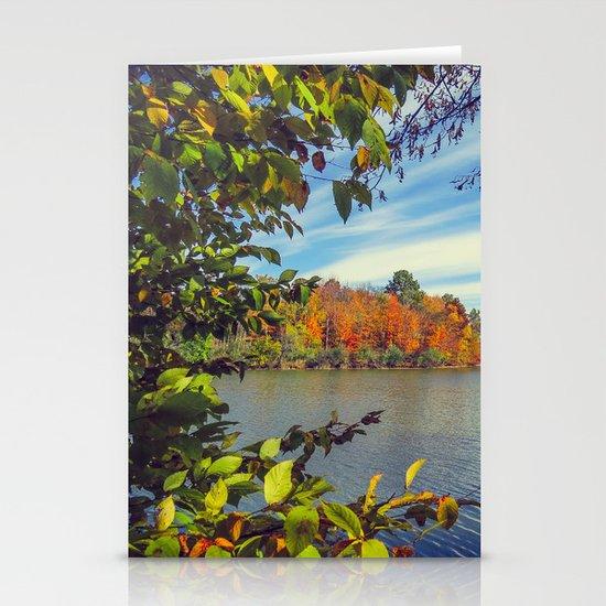 Autumn Peek-a-Boo Stationery Card