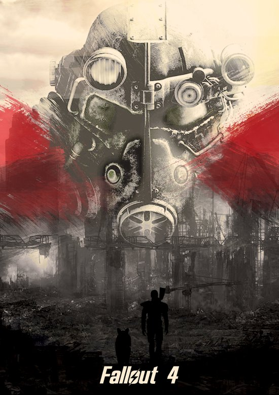 Fallout 4 print poster art print by lautstarke society6 for Fallout 4 canvas painting