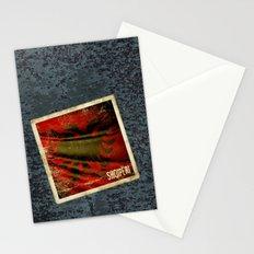 Grunge sticker of Albania flag Stationery Cards