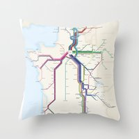 Itinéraires De Train à… Throw Pillow