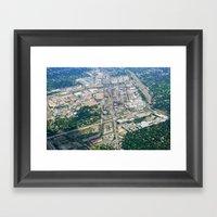 Aerial City Landscape Framed Art Print