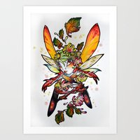 Chrysantheme Fairy Art Print