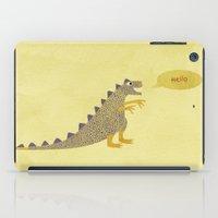 Not a very scary dinosaur iPad Case