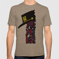 YARE YARE DAZE Mens Fitted Tee Tri-Coffee SMALL