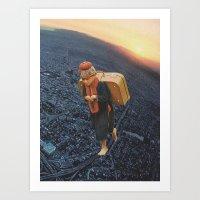 Little Boy With A Big Bu… Art Print