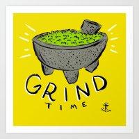 Grind Time Art Print