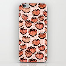 Pumpkin Patch Plaid iPhone & iPod Skin