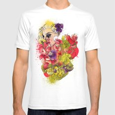 When the Petals Start Pouring Mens Fitted Tee SMALL White