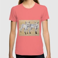 Foxes Womens Fitted Tee Pomegranate SMALL