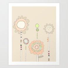Little Daisies Art Print