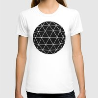 abstract T-shirts featuring Geodesic by Terry Fan