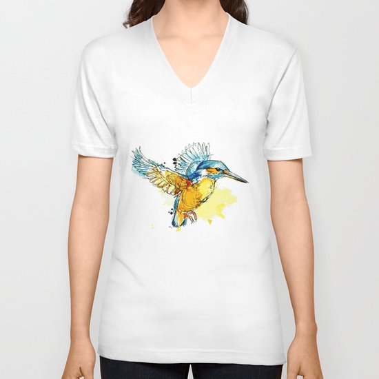Kingfisher V-neck T-shirt