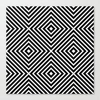 Chevron Diamond ///www.p… Canvas Print