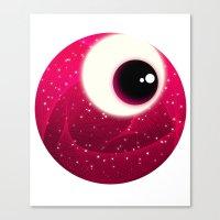 Red Dot Eye Canvas Print