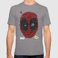 You Missed - Dead-pool Comic Style Portrait Mens Fitted Tee Tri-Grey SMALL