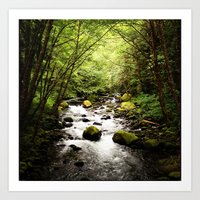 Herman Creek, OR Art Print