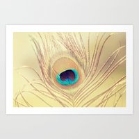 Golden Feather Art Print
