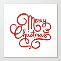 Merry Christmas 3 Canvas Print