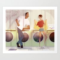 laundry and love Art Print