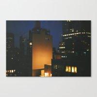 Manhattan After Dark Canvas Print