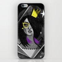 Diamond girl iPhone & iPod Skin