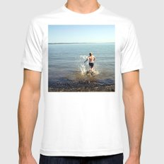 Into the drink White Mens Fitted Tee SMALL
