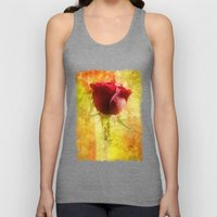 Red Rose Unisex Tank Top