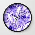 floral Delft blue Wall Clock