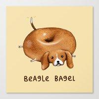Beagle Bagel Canvas Print