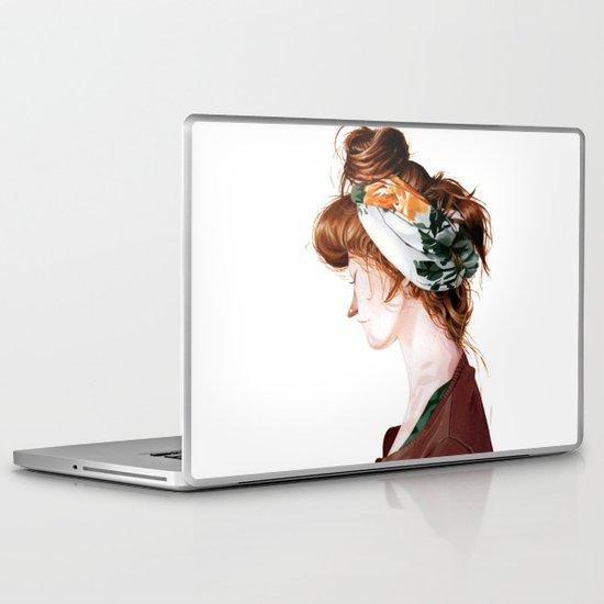Red Head Laptop & iPad Skin
