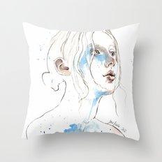 Winter 2016, watercolor Throw Pillow