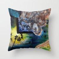Literary Octopus Throw Pillow