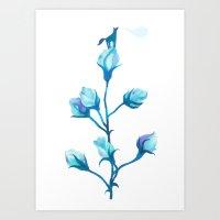 Baby Blue #2 Art Print